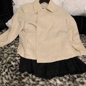 Calvin Klein Tweed Jacket and Eyelet skirt set